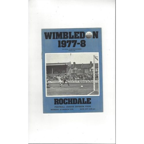 Rochdale Away Football Programmes