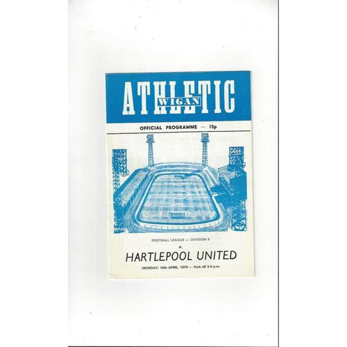 1978/79 Wigan Athletic v Hartlepool United Football Programme
