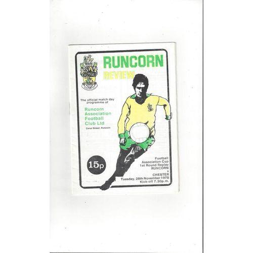 1978/79 Runcorn v Chester FA Cup Football Programme