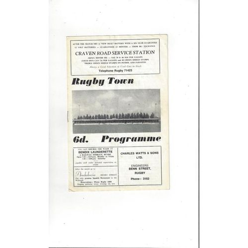 1969/70 Rugby Town v Burton Albion FA Cup Football Programme