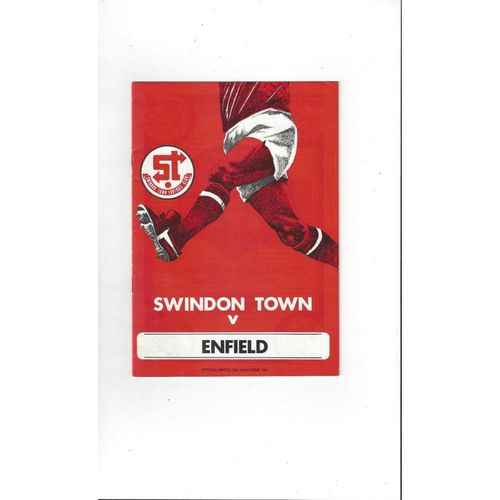 1978/79 Swindon Town v Enfield FA Cup Football Programme