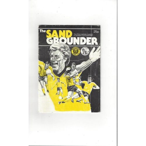 Southport v Alfreton Town FA Cup Football Programme 1984/85
