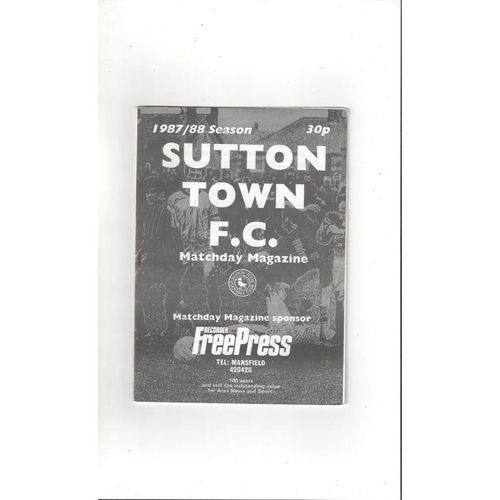1987/88 Sutton Town v Goole Town FA Cup Football Programme