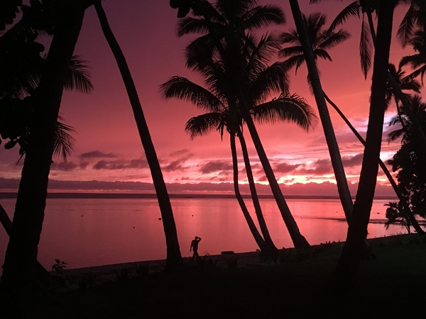 Rest and relaxation in Fiji