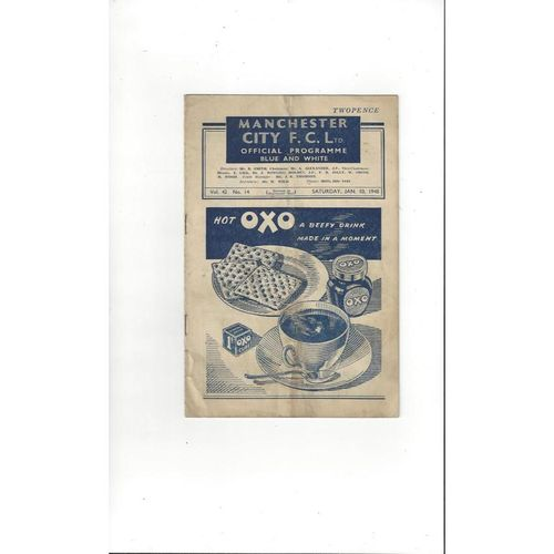 1947/48 Manchester City v Barnsley FA Cup Football Programme