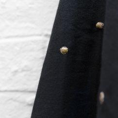 Atelier Brunette Stardust Black Double Cotton Gauze 2.14 m Remnant