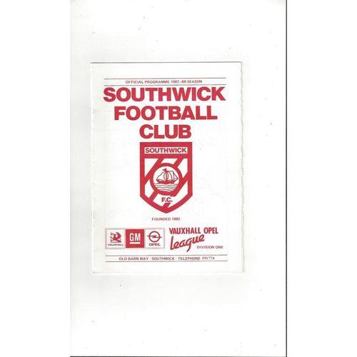 1987/88 Southwick v Croydon FA Cup Football Programme
