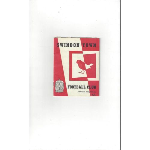 1963/64 Swindon Town v Rotherham United Football Programme