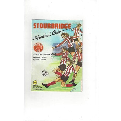 1985/86 Stourbridge v V S Rugby FA Cup Football Programme