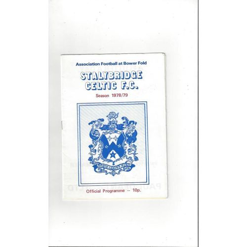 1978/79 Stalybridge Celtic v Droylsden FA Cup Football Programme