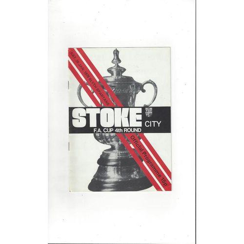 1977/78 Stoke City v Blyth Spartens FA Cup Football Programme