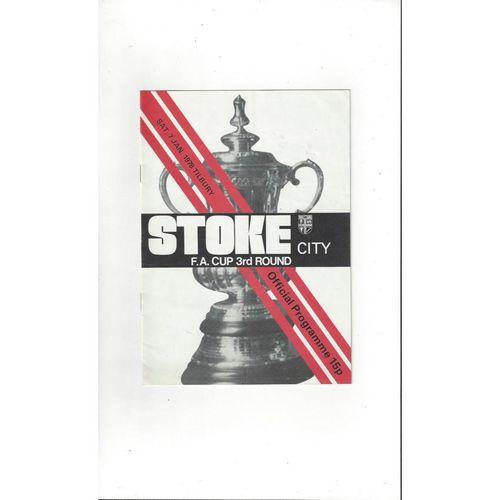 1977/78 Stoke City v Tilbury FA Cup Football Programme