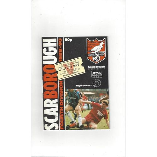 1989/90 Scarborough v Whitley Bay FA Cup Football Programme
