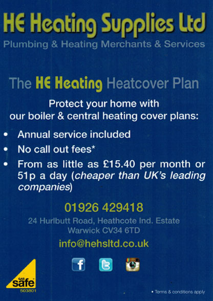 Heating Warwick, Heating Leamington Spa, Plumbing Leamington Spa