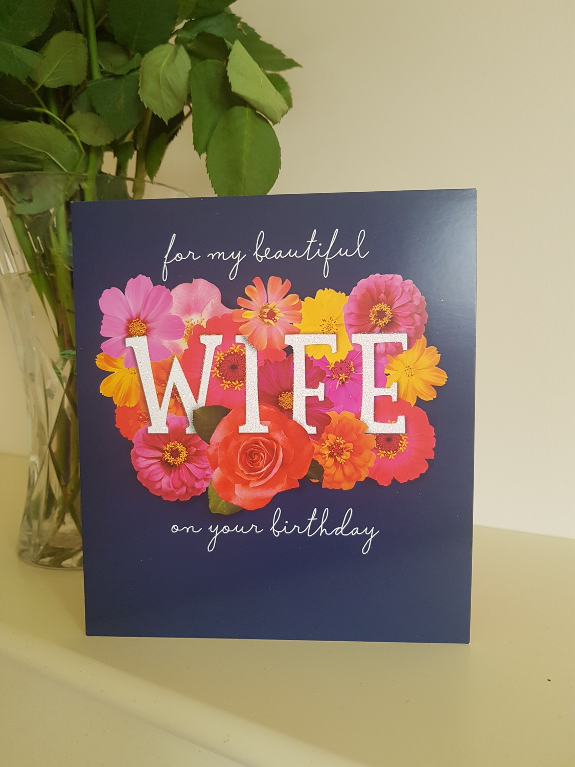 Wife birthday coloured flowers card remember that card greeting wife birthday coloured flowers card izmirmasajfo
