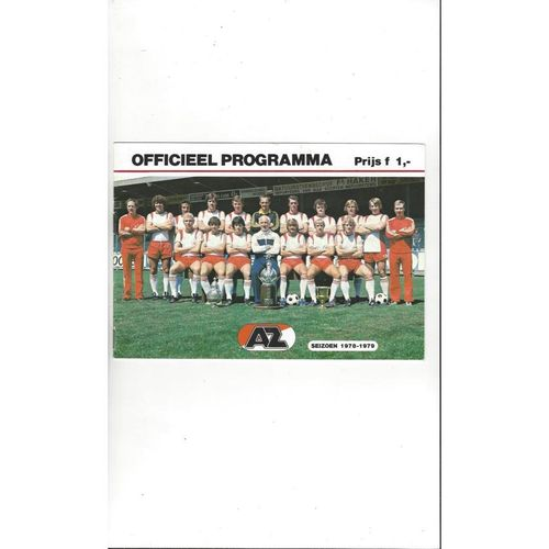 AZ67 Alkmaar v Ipswich Town Cup Winners Cup Football Programme 1978/79