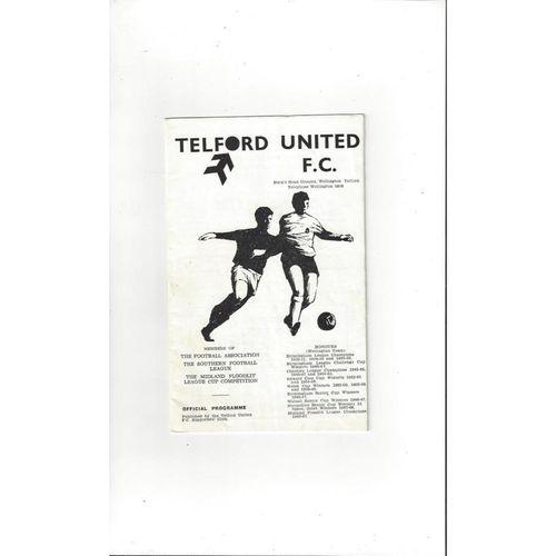 1969/70 Telford United v Bristol Rovers FA Cup Football Programme