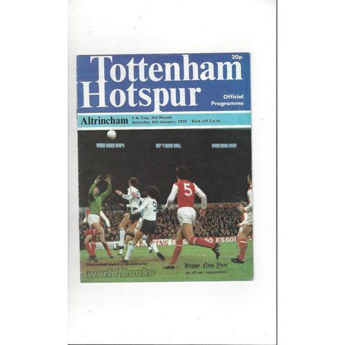 1978/79 Tottenham Hotspur v Altrincham FA Cup Football Programme