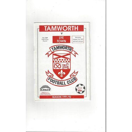 1991/92 Tamworth v Lye Town FA Cup Football Programme