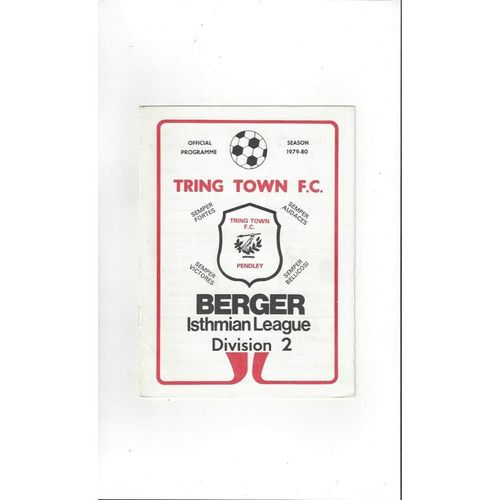 1979/80 Tring Town v Kempston Rovers FA Cup Football Programme