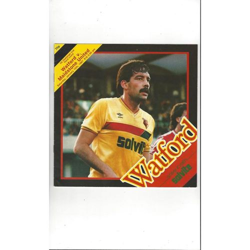 Watford v Maidstone United FA Cup Football Programme 1986/87