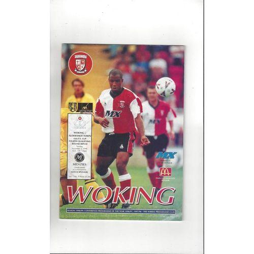 1998/99 Woking v Aldershot Town FA Cup Football Programme