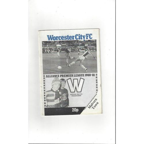 1980/81 Worcester City v Malvern Town FA Cup Football Programme