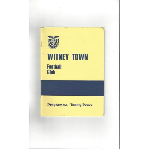 1987/88 Witney Town v Barnet FA Cup Football Programme