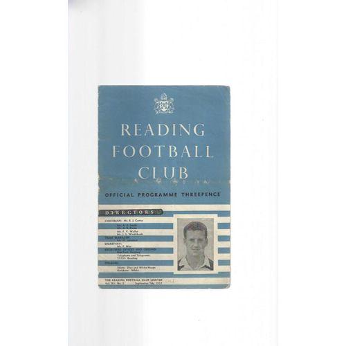1957/58 Reading v Aldershot Football Programme