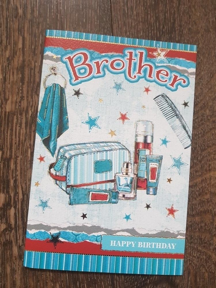 Brother Birthday Coloured Stars Card
