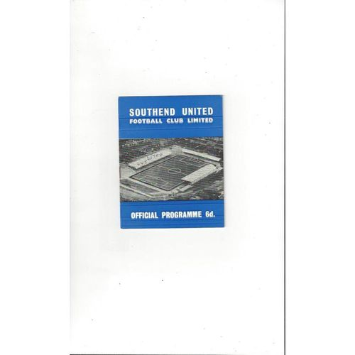 Southend United Home Football Programmes