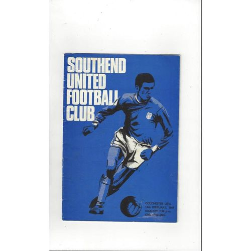 1968/69 Southend United v Colchester United Football Programme