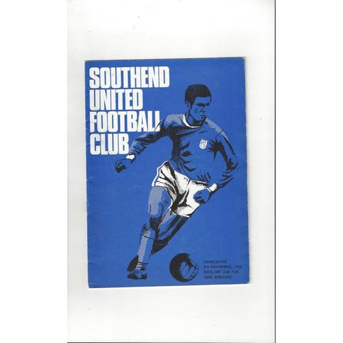 1968/69 Southend United v Doncaster Rovers Football Programme