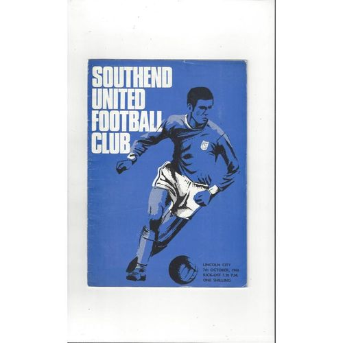 1968/69 Southend United v Lincoln City Football Programme