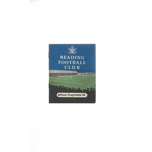 1958/59 Reading v Bury Football Programme
