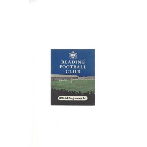 1958/59 Reading v Hull City Football Programme