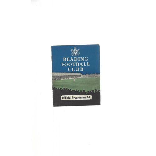 1958/59 Reading v Rochdale Football Programme