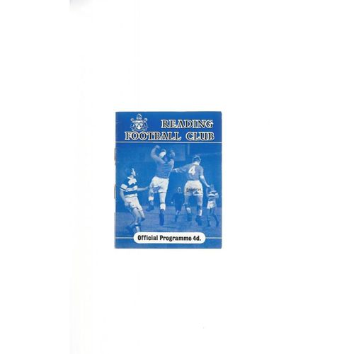 1959/60 Reading v Bournemouth Football Programme