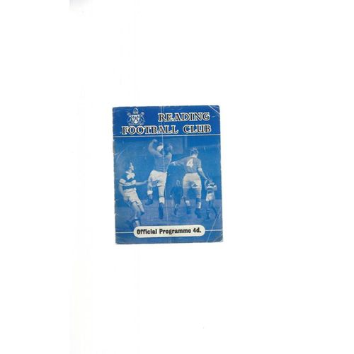 1959/60 Reading v Chesterfield Football Programme