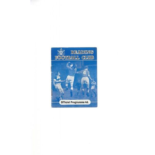 1959/60 Reading v Colchester United Football Programme