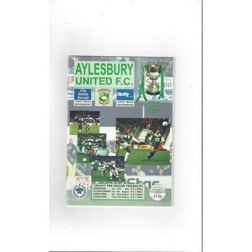 Aylesbury United v Wimbledon, Corby, Luton & Leyton Pennant Friendly 1996/97
