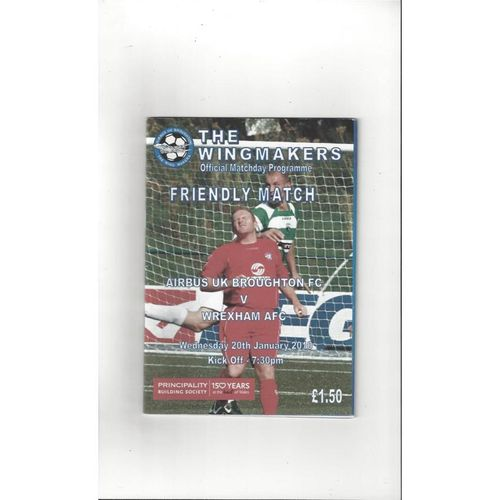 Airbus UK Broughton v Wrexham Friendly Football Programme 2009/10