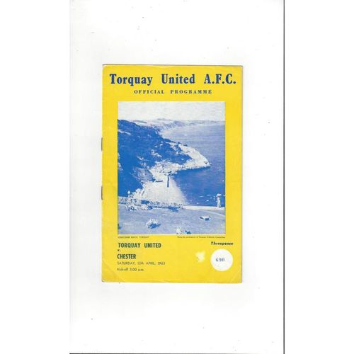 1962/63 Torquay United v Chester City Football Programme
