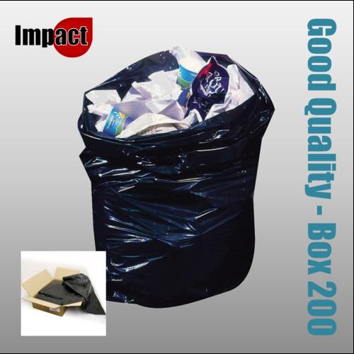 Standard bin bags, black - Case 200