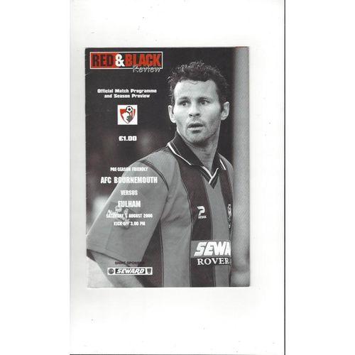 Bournemouth v Fulham Friendly Football Programme 2000/01