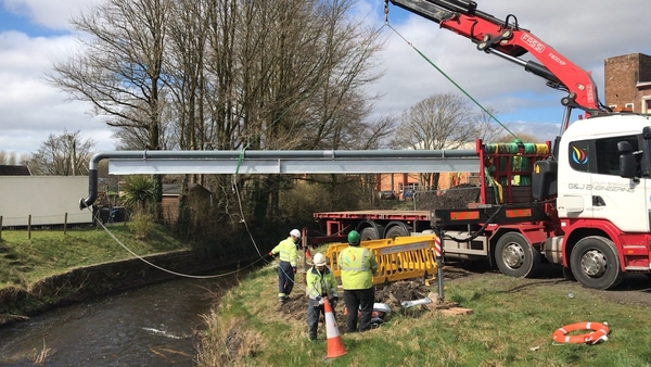 Bridge Crossing Installed across River Lleidi, Llanelli