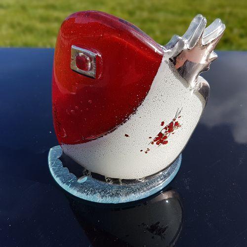 Red, White & Platinum - Pomegranate Shaped T Light Holder