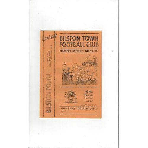 Bilston Town v Halesowen Town Friendly Football Programme 1994/95