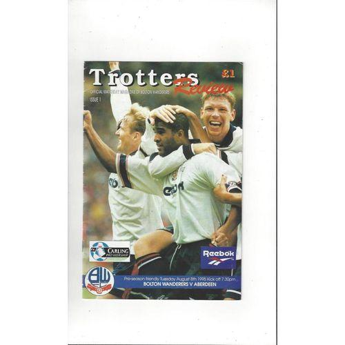 Bolton Wanderers v Aberdeen Friendly Football Programme 1995/96