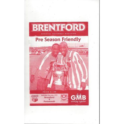 Brentford v Portsmouth Friendly Football Programme 1999/00